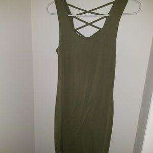 Forever 21 olive dress